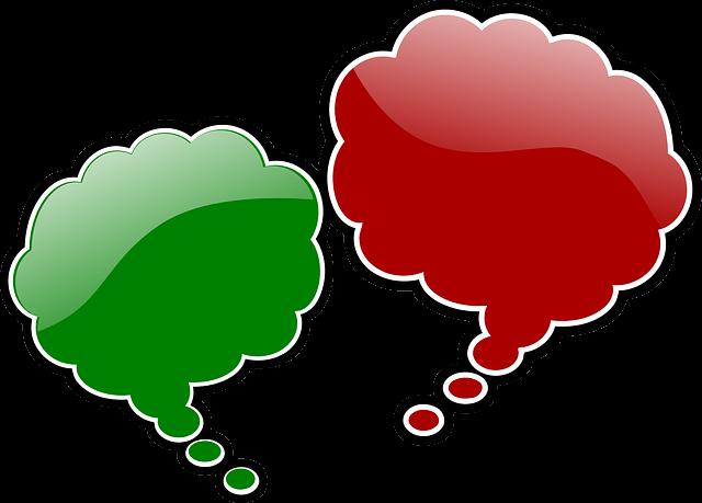 Dos globos de diálogo diferentes