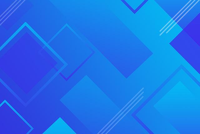 Geometrías cuadradas y rectangulares en varios azules para simbolizar la diversidad intralingüística