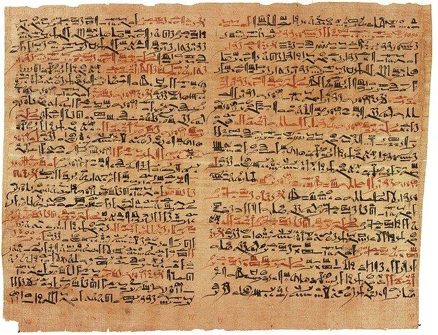 Papiro con escritura hierática